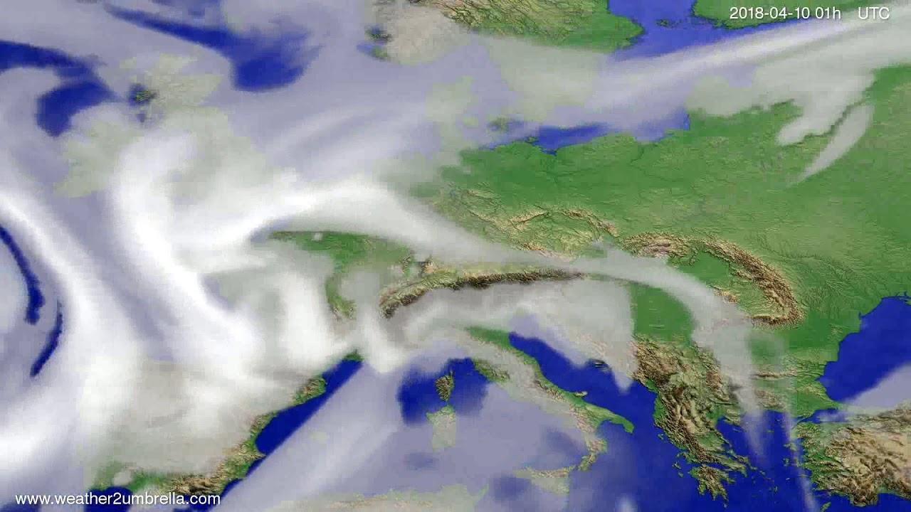 Cloud forecast Europe 2018-04-07