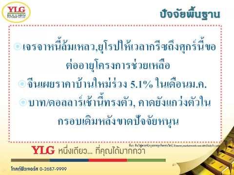 YLG บทวิเคราะห์ราคาทองคำประจำวัน 17-02-15