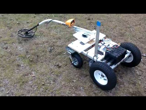 Metal Mine Detecting Robot Test 1
