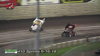 Knoxville Raceway 410 Highlights - June 16, 2018