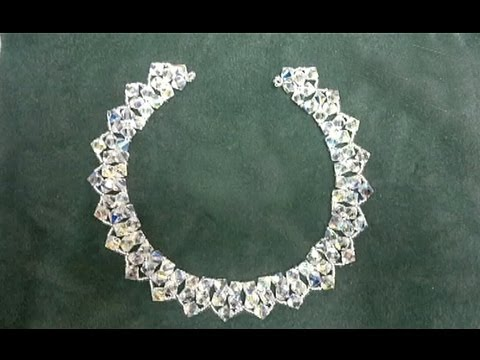 Beading4perfectionists : 8mm Swarovski 2 rows necklace beginners tutorial (video version)