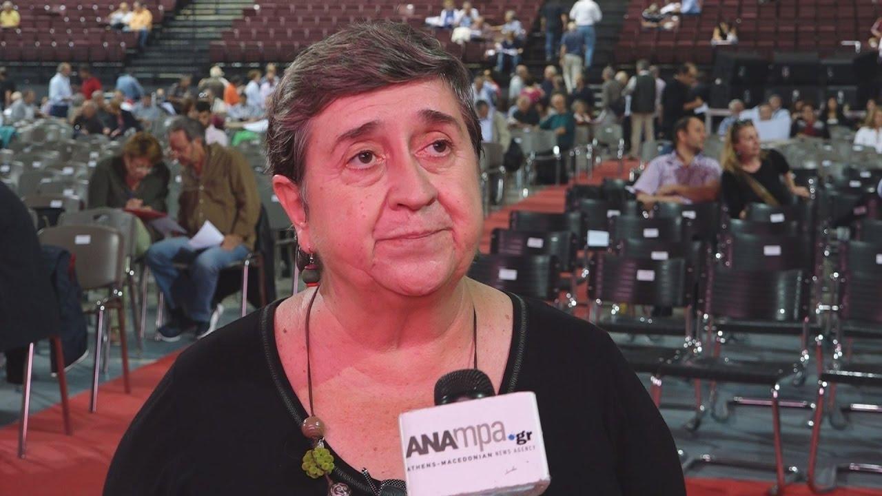 Η ΜΑΪΤΕ ΜΟΛΑ, (αντιπρόεδρος του κόμματος της Ευρωπαϊκής Αριστεράς)στο ΑΠΕ-ΜΠΕ