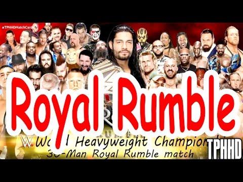 WWE Royal Rumble Match 2016 | 30 Man Battle Royal