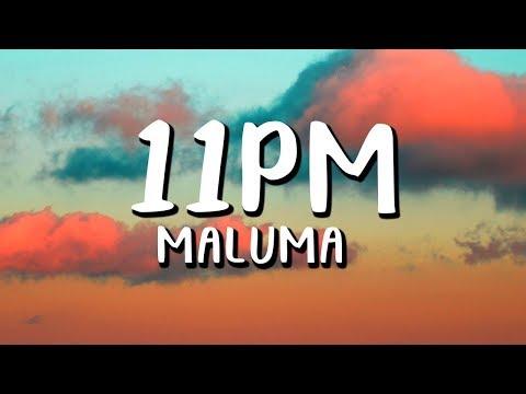 Maluma - 11PM  (Letra/Lyrics)