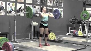 63 kg Catalyst Athletics lifter Alyssa Sulay joins Greg Everett for commentary about her training video. 