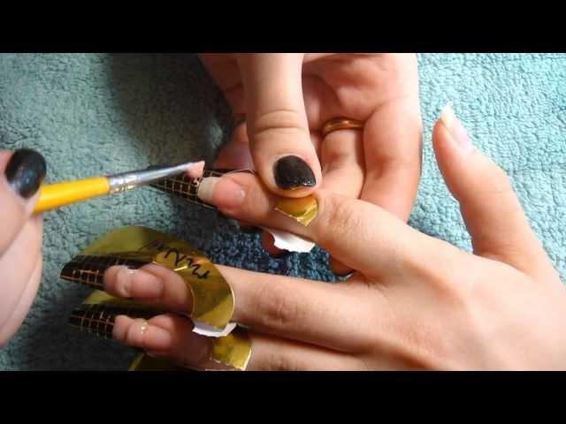 видео как сделать гелевые ногти