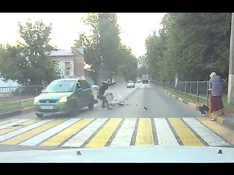 Мотоцикл ошибок не прощает ( Мото аварии Августа )