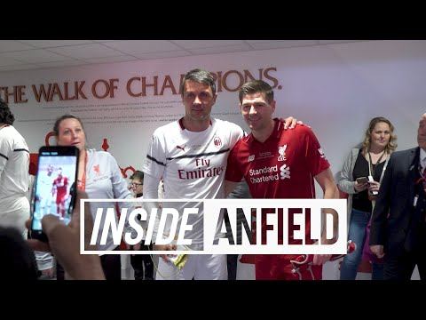 Inside Anfield: Liverpool FC Legends v AC Milan | Gerrard, Pirlo, Carragher, Kaka and more