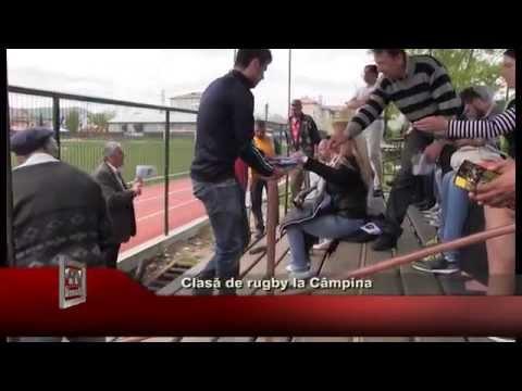 Clasă de rugby la Campina