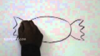 Видео: как легко нарисовать конфету карандашом