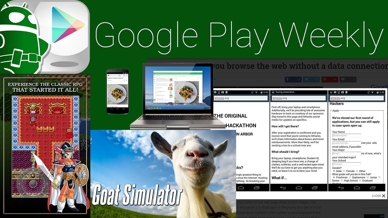Goat Simulator, Dragon Quest arrives on Android, ChromeOS has Android apps – Google Play Weekly