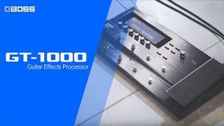 Boss GT-1000 Guitar Effects Processor Video