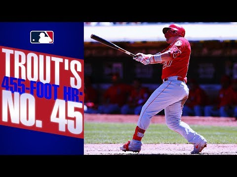 Video: Trout ties league lead with 45th homer of the season
