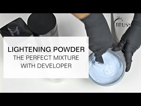 LIGHTENING POWDER - How to achieve the Perfect Mixture with Developer?