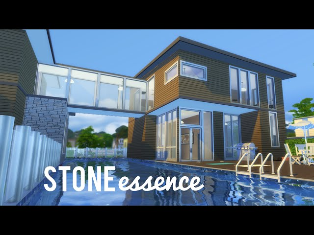 The sims 4 speed build stone essence newcrest for Modern house design bloxburg