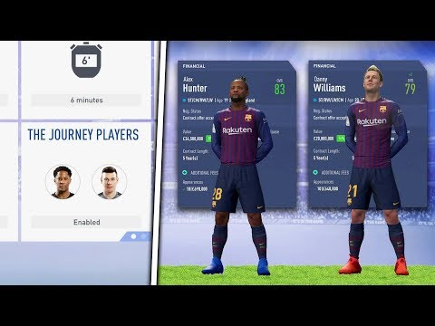 *UNLOCKED* ALEX HUNTER AND DANNY WILLIAMS IN CAREER MODE! - FIFA 19 JOURNEY MODE!