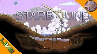 Live découverte sur Starbound un jeu sandbox de crafting, exploration et survie dans un univers futuriste.