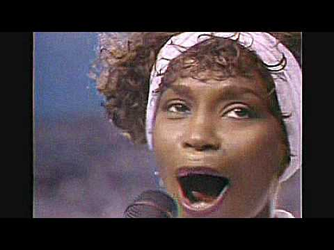 Whitney Houston Singing American National Anthem