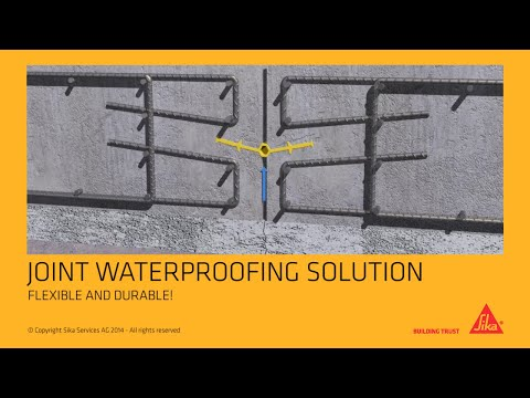 Sika® Waterbar – waterstops for joint sealing