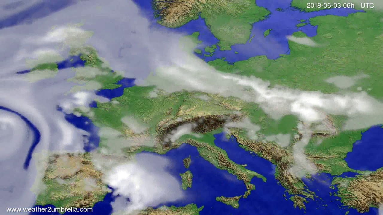 Cloud forecast Europe 2018-05-31