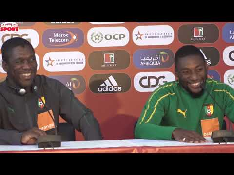 Ambiance de la conférence de presse Maroc – Cameroun …