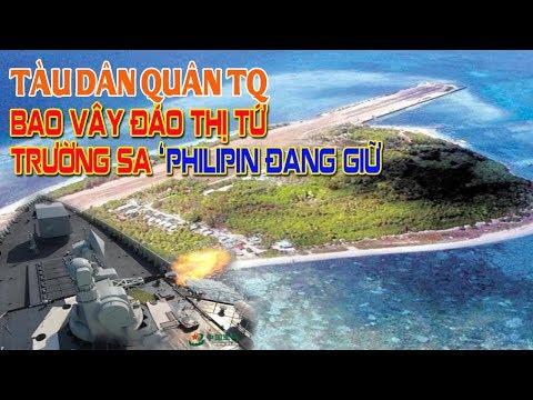 Tàu Trung Quốc vây quanh đảo Thị Tứ ở Trường Sa và tháo chạy khi 2 tàu của Mỹ xuất hiện - Thời lượng: 6 phút, 58 giây.