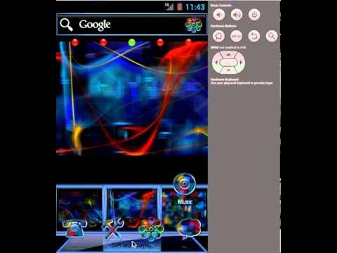 Video of ADWTheme Techno Rainbow