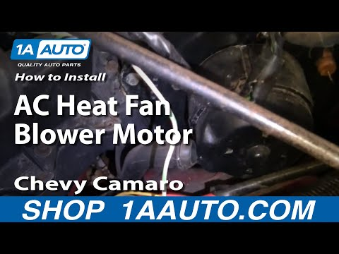 How To Install Replace AC Heat Fan Blower Motor 82-92 Chevy Camaro Pontiac Firebird 1AAuto.com