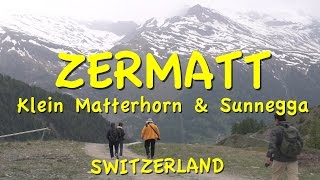 Please subscribe:  http://bit.ly/2pmdyeuSwitzerland playlist  http://bit.ly/2qsUism You are familiar with the famous Matterhorn in Zermatt, but perhaps less familiar with two other mountains that make wonderful excursions: the Klein Matterhorn and Sunnegga at 8:00. We are taking you up both of those peaks in this episode, first to the Klein Matterhorn in the Matterhorn Glacier Paradise.We're going on a major journey to a high mountain peak.We're taking you to the top of the Klein Matterhorn, which is the highest viewing platform in Europe that can be reached by cable car at 3883 meters high at the top of the Alps.It's called Little Matterhorn because it's next to the more famous Matterhorn mountain that's even higher, 600 meters higher at 4478 meters high and we will get great views of the Matterhorn going up in the cable car.After enjoying the summit, we're not going to ride the cable car all the way down – you could if you want to, but we've chosen to opt out and take a hike.At the end of our 3-week tour of Switzerland, several of us looked back on this hike as the favorite moment of the entire tour, and we had a lot of great moments on the tour as you might've noticed if you've been following all of our Swiss videos.  But there was just something lovely and ideal about this beautiful walk downhill through the wildflowers with mountains all around us.Upon returning to town, we're going to walk over to the funicular that will take us up to the Sunnegga, a mountain high above Zermatt town. We will ride a funicular up and then we are going to walk down.Reaching the funicular in a few minutes we notice out front they have a big map showing the different routes and different locations up on the mountaintop.We'll be riding up this way in the underground funicular and then walking down the mountain. Notice how many other routes there are in the Zermatt area – it's huge.Just buy your tickets from the booth here, no reservations necessary.Then you walk through a tunnel for