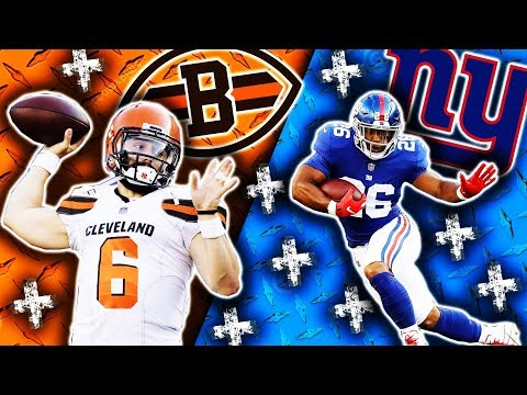 2018 🁢 CLE Browns @ NYG Giants 🁢 Preseason Week 1 🁢 Saquon Barkley Baker Mayfield