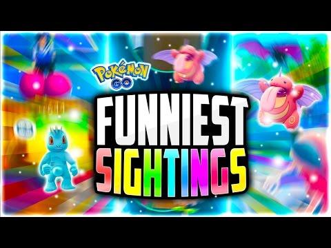 Pokemon Go - The Top 5 FUNNIEST Pokemon Go Sightings! (Funny Pokemon Go GLITCHES!)