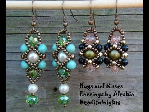 Earrings - Friend me of face book and show me what you make http://www.facebook.com/aleshia.beadifulnights You can make these earrings with 8lb. test monofilament fishi...