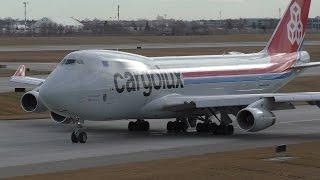 Video Cargolux 747-4R7F [LX-SCV] Close Up Taxi and Takeoff from Calgary Airport ᴴᴰ MP3, 3GP, MP4, WEBM, AVI, FLV Juni 2018