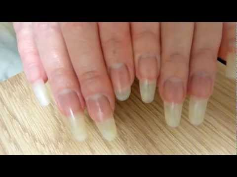 Clear long natural fingernails of reallongnailsuk (video 22)