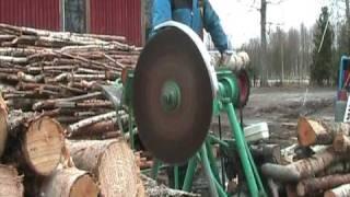 circular saw,   powered by bernard engines