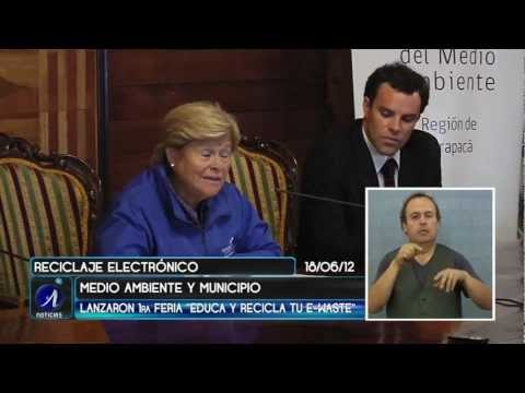 CHILERECICLA, MINISTERIO DEL MEDIO AMBIENTE Y MUNICIPALIDAD, LANZAN 1ª FERIA ELECTRÓNICA EN IQUIQUE