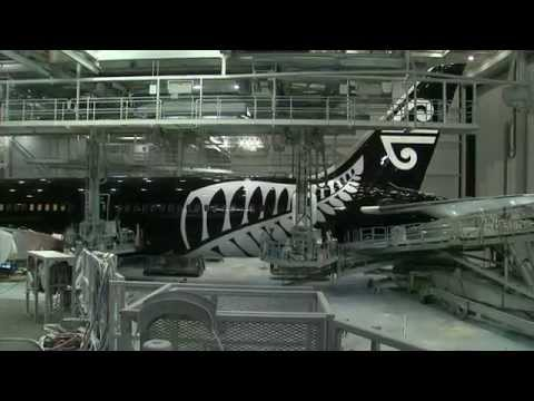 air - Livery time lapse and unveiling of our new Boeing 787-9 Aircraft at Boeing's Everett factory near Seattle.