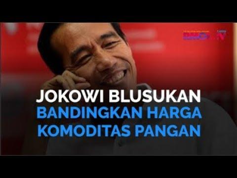 Jokowi Blusukan Bandingkan Harga Komoditas Pangan