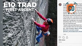 E10 First Ascent...With MONSTER Fall Potential   Climbing Daily Ep.1429 by EpicTV Climbing Daily