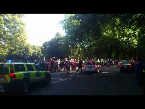 Film of Mark Cavendish's Tour of Britain crash
