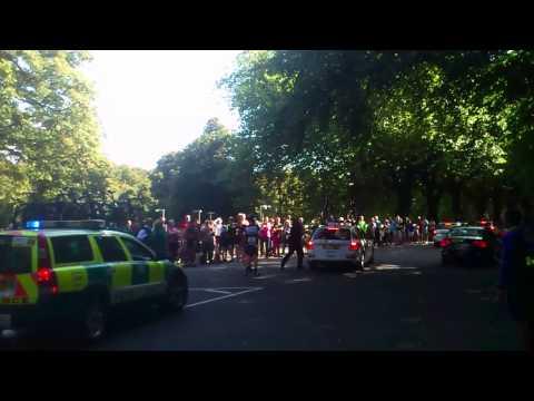 Film of Mark Cavendish's Tour of Britain crash