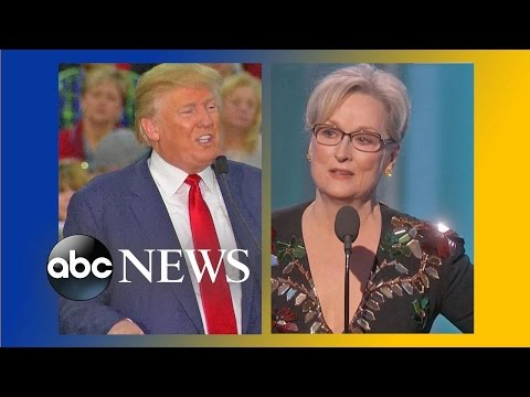 Download Trump Reacts to Meryl Streep's Golden Globes Speech HD Mp4 3GP Video and MP3