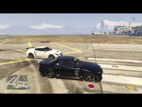 GTA 5 Annis Elegy vs Elegy Retro custom ( nissan GTR vs nissan skyline)