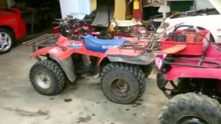 6. Quick review. Honda trx 350 vs Suzuki quadrunner vs Yamaha grizzly 350