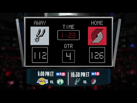 Video: Stay up to date with the Spurs/Trail Blazers LIVE scoreboard and catch all the action on #NBAonTNT!