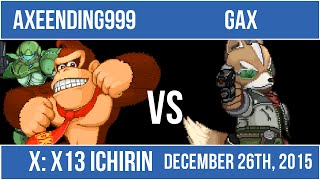 Grand Finals of X13: Ichirin, a SSF2 tournament.