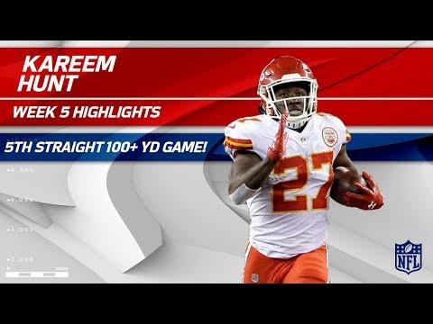 Video: Kareem Hunt's 5th Straight 100+ Yard Game!