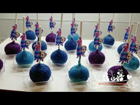 CAKEPOPS ( PALETA DE PASTEL) FORTNITE Y FLASH DECORACION, NANCYS GELATIN