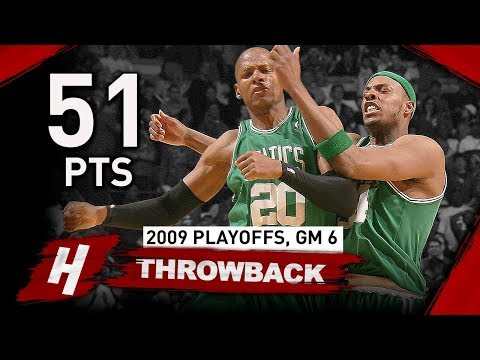 Ray Allen CRAZY Full Game 6 Highlights vs Bulls 2009 NBA Playoffs - 51 Points, 9 Threes!