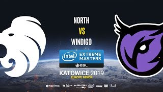 North vs Windigo - IEM Katowice EU Minor - bo1 - de_overpass [Strike & Sl4m]